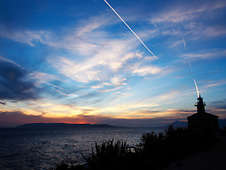 31.03.2016, Makarska, CRO, Dämmerung in Makarska, im Bild Sonnenuntergang und Dämmerung am Meer // Sunset and twilight by the sea Makarska, Croatia on 2016/03/31. EXPA Pictures © 2016, PhotoCredit: EXPA/ Pixsell/ Toni Katic/HaloPix<br /> <br /> *****ATTENTION - for AUT, SLO, SUI, SWE, ITA, FRA only*****