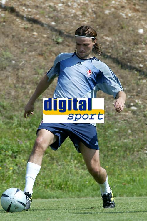 Fotball<br /> Italia<br /> Foto: Graffiti/Digitalsport<br /> NORWAY ONLY<br /> <br /> PERUGIA, NORCIA 08-08-2004<br /> TRIANGOLARE  CON FIORENTINA PRIMAVERA - ROSETANA - FIORENTINA<br /> <br /> Tomas Ujfalusi Fiorentina