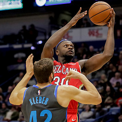 Dec 5, 2018; New Orleans, LA, USA; New Orleans Pelicans forward Julius Randle (30) shoots over Dallas Mavericks forward Maximilian Kleber (42) during the second half at the Smoothie King Center. Mandatory Credit: Derick E. Hingle-USA TODAY Sports