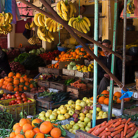 North Africa, Morocco, Fes. Fruits and vegetables in the souks of Fes.