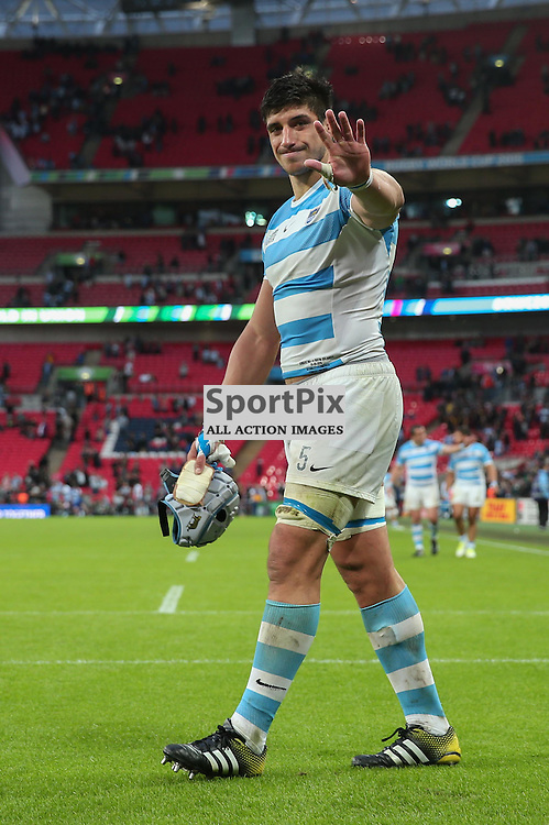 Tomas Lavanini of Argentina after the Rugby World Cup New Zealand v Argentina, Sunday 20 September 2015, Wembley Stadium (Photo by Mike Poole)