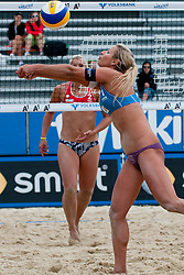 Erika Fabjan of Slovenia at A1 Beach Volleyball Grand Slam tournament of Swatch FIVB World Tour 2011, on August 2, 2011 in Klagenfurt, Austria. (Photo by Matic Klansek Velej / Sportida)