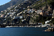 Cityscape of the cliffs of Amalfi, Campania, Italy