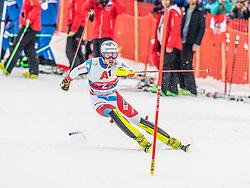 26.01.2020, Streif, Kitzbühel, AUT, FIS Weltcup Ski Alpin, Slalom, Herren, 2. Lauf, im Bild Daniel Yule (SUI) // Daniel Yule of Switzerland in action during his 2nd run in the men's Slalom of FIS Ski Alpine World Cup at the Streif in Kitzbühel, Austria on 2020/01/26. EXPA Pictures © 2020, PhotoCredit: EXPA/ Stefan Adelsberger