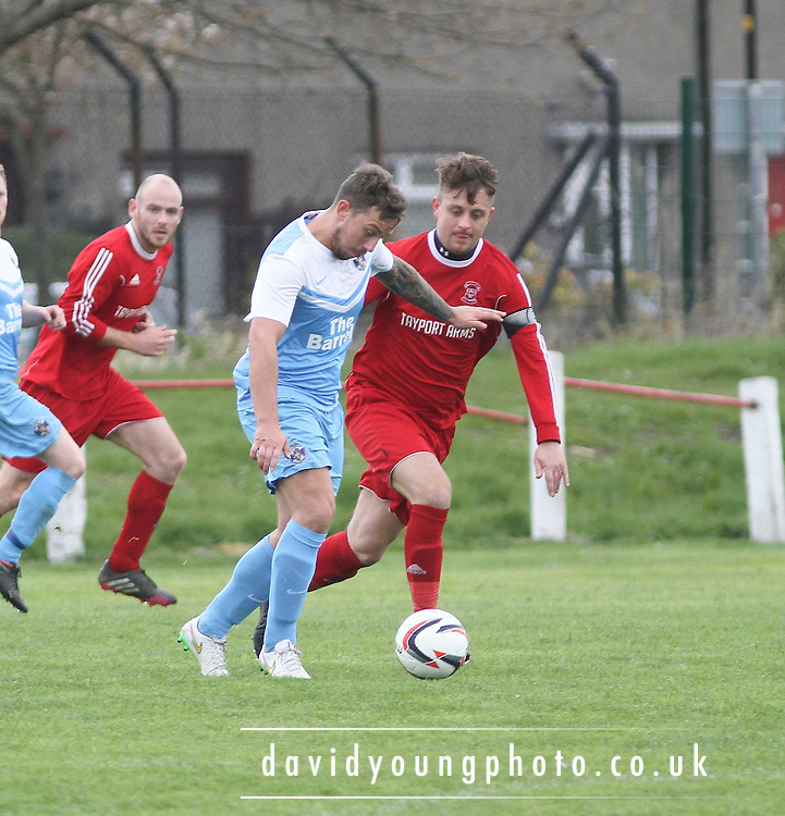 Tayport (red) v Fairfield (light blue) in the Tayside Trophy Semi Final at Whitton Park - Dundee Sunday FA<br /> <br />  - &copy; David Young - www.davidyoungphoto.co.uk - email: davidyoungphoto@gmail.com