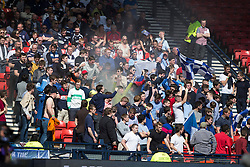 Falkirk fans. <br /> Hibernian 0 v 1 Falkirk, William Hill Scottish Cup semi-final, played 18/4/2015 at Hamden Park, Glasgow.