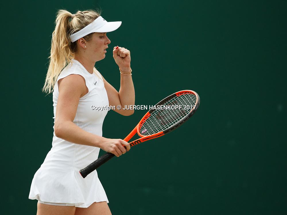 ELINA SVITOLINA (UKR) macht die Faust und jubelt,Jubel,Emotion<br /> Tennis - Wimbledon 2017 - Grand Slam ITF / ATP / WTA -  AELTC - London -  - Great Britain  - 7 July 2017.