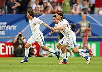 Photo: Chris Ratcliffe.<br /> USA v Czech Republic. Group E, FIFA World Cup 2006. 12/06/2006.<br /> Tomas Rosicky of Czech Republic celebrates scoring the second Czech Republic goal.