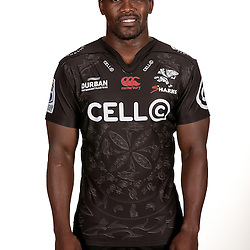 DURBAN, SOUTH AFRICA - JANUARY 25:  Lwazi Mvovo during Cell C Sharks photocall session at Growthpoint Kings Park on January 25, 2017 in Durban, South Africa. (Photo by Howard Cleland/Gallo Images)