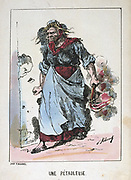 Paris Commune 26 March-28 May 1871.  Commune types: A Petroleuse, one of the women incendiaries who set fires in the city.