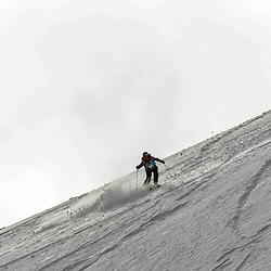Katie Small in action on the Flypaper at the Freeride World Tour Coe Cup in Glencoe (c) ROSS EAGLESHAM | Sportpix.co.uk