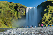 Skogafoss, a waterfall in southern Iceland.
