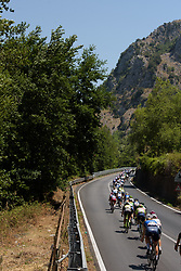 Peloton weave through the valley floor on Stage 9 of the Giro Rosa - a 122.3 km road race, between Centola fraz. Palinuro and Polla on July 8, 2017, in Salerno, Italy. (Photo by Sean Robinson/Velofocus.com)