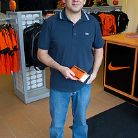 Dundee United Season Tickets...2012-13<br /> Allan Lee from Dundee with his season tickets<br /> Picture by Graeme Hart.<br /> Copyright Perthshire Picture Agency<br /> Tel: 01738 623350  Mobile: 07990 594431