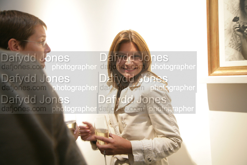Nathalie Massanet, Michael Roberts - book launch party hosted by Vanity Fair to celebrate  publication, Shot In Sicily. Hamiltons Gallery, 13 Carlos Place, London,17 September 2007. -DO NOT ARCHIVE-© Copyright Photograph by Dafydd Jones. 248 Clapham Rd. London SW9 0PZ. Tel 0207 820 0771. www.dafjones.com.
