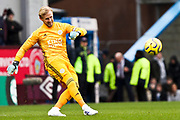 Leicester City goalkeeper Kasper Schmeichel  during the Premier League match between Burnley and Leicester City at Turf Moor, Burnley, England on 19 January 2020.
