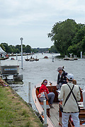 """Henley on Thames, United Kingdom, 23rd June 2018, Saturday,   """"Henley Women's Regatta"""",  view, down the Barried Rowing Course, Henley Reach, River Thames, Thames Valley, England, © Peter SPURRIER/Alamy Live News"""