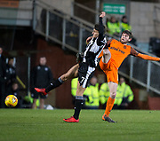 10th April 2018, Tannadice Park, Dundee, Scotland; Scottish Championship football, Dundee United versus St Mirren; Kyle Magennis of St Mirren battles for the ball with Sam Stanton of Dundee United