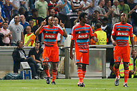 FOOTBALL - UEFA CHAMPIONS LEAGUE 2011/2012 - GROUP STAGE - GROUP F - OLYMPIQUE DE MARSEILLE v BORUSSIA DORTMUND - 28/09/2011 - PHOTO PHILIPPE LAURENSON / DPPI - JOY ANDRE AYEW (OM) AFTER HIS GOAL