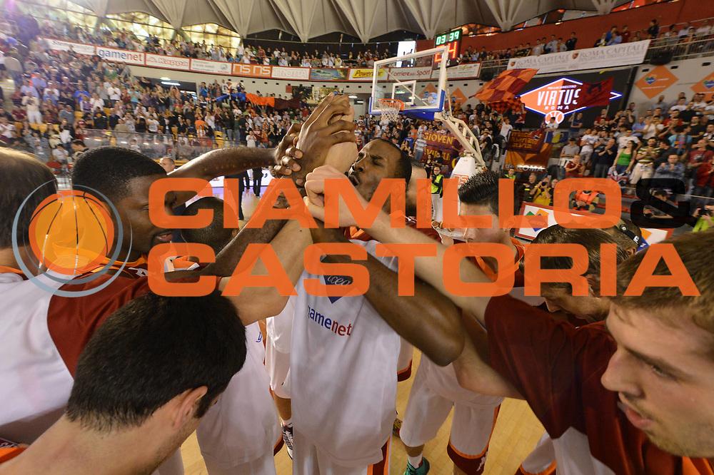 DESCRIZIONE : Roma Lega A 2012-2013 Acea Roma Lenovo Cant&ugrave; playoff semifinale gara 2<br /> GIOCATORE : Presentazione Team<br /> CATEGORIA : <br /> SQUADRA : Acea Roma<br /> EVENTO : Campionato Lega A 2012-2013 playoff semifinale gara 2<br /> GARA : Acea Roma Lenovo Cant&ugrave;<br /> DATA : 27/05/2013<br /> SPORT : Pallacanestro <br /> AUTORE : Agenzia Ciamillo-Castoria/GiulioCiamillo<br /> Galleria : Lega Basket A 2012-2013  <br /> Fotonotizia : Roma Lega A 2012-2013 Acea Roma Lenovo Cant&ugrave; playoff semifinale gara 2<br /> Predefinita :
