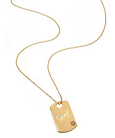 girl dog tag necklace