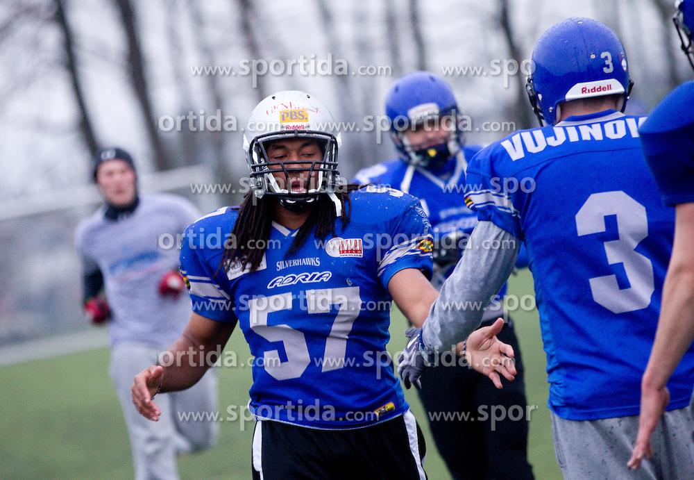 Desmond Hendrix during practice session of American Football Team Ljubljana Silverhawks, on April 11, 2012, in Radomlje, Slovenia. (Photo by Vid Ponikvar / Sportida.com)