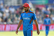 Gulbadin Naib (c) of Afghanistan during the ICC Cricket World Cup 2019 match between Afghanistan and Australia at the Bristol County Ground, Bristol, United Kingdom on 1 June 2019.