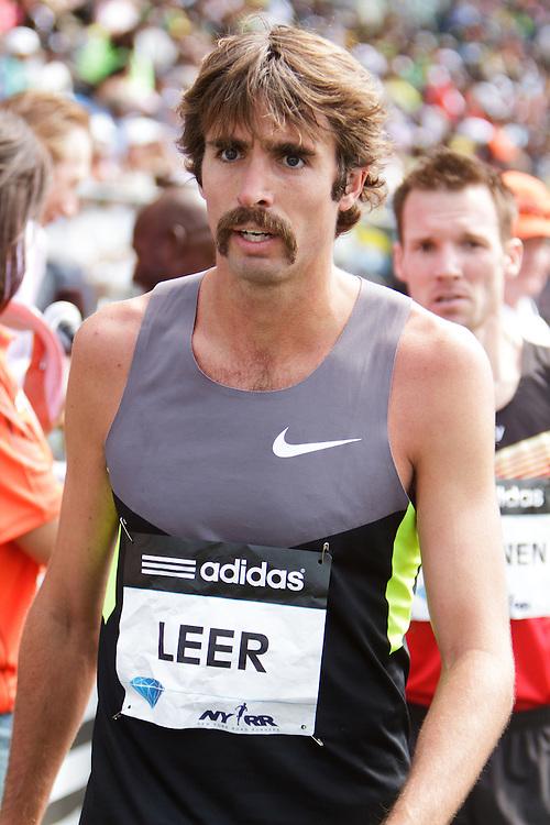 Samsung Diamond League adidas Grand Prix track & field; men's 1500 meters, post race, Will Leer,