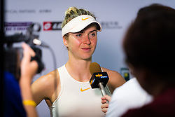 October 9, 2018 - Elina Svitolina of the Ukraine talks to the media after winning her first-round match at the 2018 Prudential Hong Kong Tennis Open WTA International tennis tournament (Credit Image: © AFP7 via ZUMA Wire)