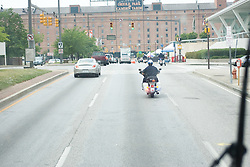 26 May 2007: Duke Blue Devils with a police escort en route to the NCAA semifinals to take on the Cornell Big Red at M&T Bank Stadium in Baltimore, MD.