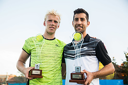 Andrei Vasilievski (BLR) and Hans Podlipnik - Castillo (CHI) celebrate at trophy ceremony after winning in Doubles Final during Tennis tournament  ATP Challenger Zavarovalnica Sava Slovenia Open 2017, on August 11, 2017 in Sports centre, Portoroz/Portorose, Slovenia. Photo by Vid Ponikvar / Sportida