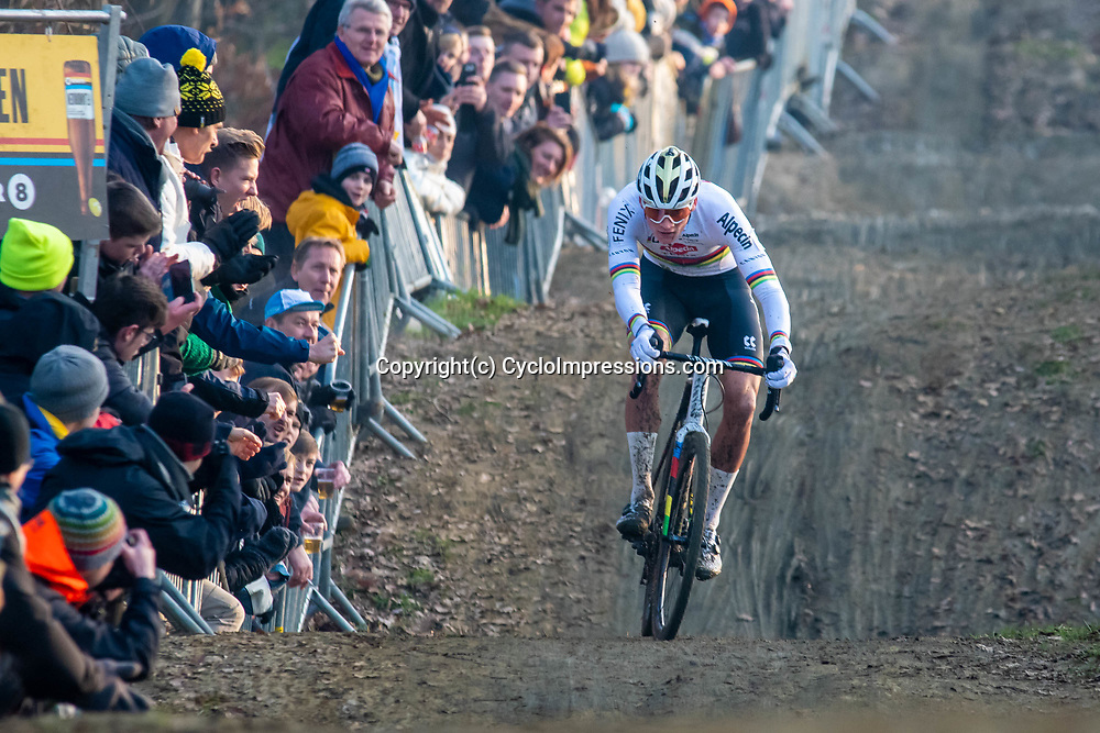 2020-01-01 Cycling: dvv verzekeringen trofee: Baal: Mathieu van der Poel on his way to his 17th victory of the season
