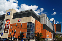 Exterior of the Bell Center, home of the Montreal Canadiens hockey team, Centre Ville, downtown, Montreal, Quebec, Canada