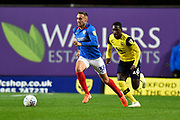 Brandon Haunstrup (38) of Portsmouth on the attack during the Leasing.com EFL Trophy match between Oxford United and Portsmouth at the Kassam Stadium, Oxford, England on 8 October 2019.