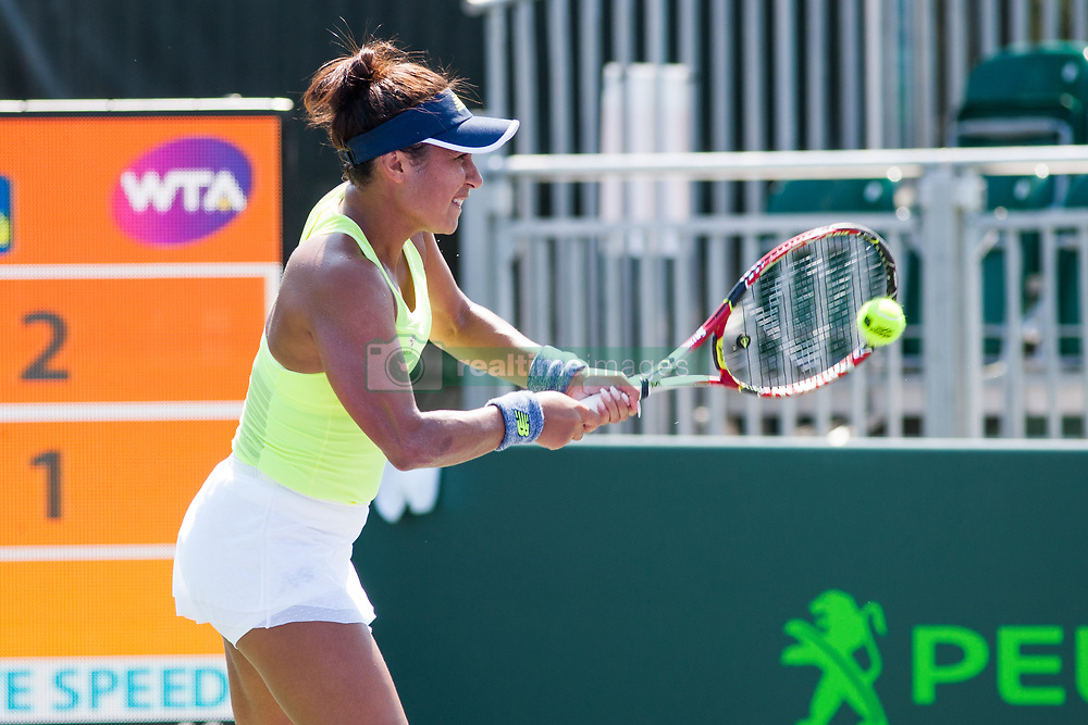 March 20, 2018 - Key Biscayne, FL, U.S. - KEY BISCAYNE, FL - MARCH 20: Heather Watson (GBR) competes during the qualifying round of the 2018 Miami Open on March 20, 2018, at Tennis Center at Crandon Park in Key Biscayne, FL. (Photo by Aaron Gilbert/Icon Sportswire) (Credit Image: © Aaron Gilbert/Icon SMI via ZUMA Press)