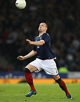 Scotland v Iceland<br /> World Cup Qualifier<br /> Hampden Park / BT Stadium<br /> Glasgow<br /> <br /> Scotland 's Alan Hutton<br /> 1st April 2009<br /> <br /> <br /> <br /> <br /> Ian MacNicol<br /> 07949 850 537<br /> ian_mac1966@yahoo.com<br /> www.ianmacnicolimages.co.uk
