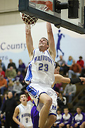 David Falk slams down a dunk during Madison's varsity basketball game with Strasburg on Tuesday, January 26.  David led Madison with 20 points in their 87-55 win over the Rams.  The Varsity Boys Basketball team beat Strasburg tonight 87-55. David Falk led the way with 20 points and Matt Garr added 15. Madison (17-0;4-0)  Date:  January/26/10, MCHS Varsity Boys Basketball vs Strasburg Rams,