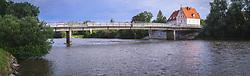 Most med Gorno Radgono in Bad Radkersburg-om, ki povezuje Slovenijo in Avstrijo 2019/20, on Avgust 3, 2019 in Gornja Radgona, Gornja Radgona, Slovenia. Photo by Blaž Weindorfer / Sportida