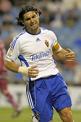 Fabian Ayala the Real Zaragoza captain in action as Real Zaragoza beat Tenerife 1-0 in La Romareda the first game of the 2009/2010 LA LIGA season, 29th August 2009