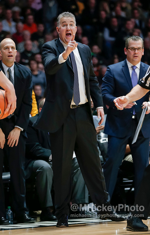 WEST LAFAYETTE, IN - FEBRUARY 07: Head coach Matt Painter of the Purdue Boilermakers protests a call during the game against the Ohio State Buckeyes at Mackey Arena on February 7, 2018 in West Lafayette, Indiana. (Photo by Michael Hickey/Getty Images) *** Local Caption *** Matt Painter