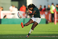 DUBAI, UNITED ARAB EMIRATES - Thursdays 30 November 2017, Zintle Mpupha of South Africa during HSBC Emirates Airline Dubai Rugby Sevens match between South Africa and the USA at The Sevens Stadium in Dubai.<br /> Photo by Roger Sedres/ImageSA