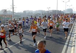 21-10-2007 ATLETIEK: ANA BEIJING MARATHON: BEIJING CHINA<br /> De Beijing Olympic Marathon Experience georganiseerd door NOC NSF en ATP is een groot succes geworden / 744 en 770<br /> ©2007-WWW.FOTOHOOGENDOORN.NL