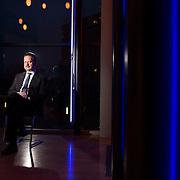 29.03.2015 Magdeburg, Opernhaus, Cafe Rossini, Wulf Gallert, Fraktionsvorsitzender Die Linke im Landtag Sachsen-Anhalt, Portrait.