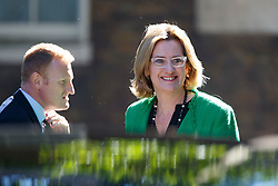 © Licensed to London News Pictures. 19/07/2016. London, UK. Home Secretary AMBER RUDD attending the first cabinet meeting under Theresa May's leadership in Downing Street on Tuesday, 19 July 2016. Photo credit: Tolga Akmen/LNP