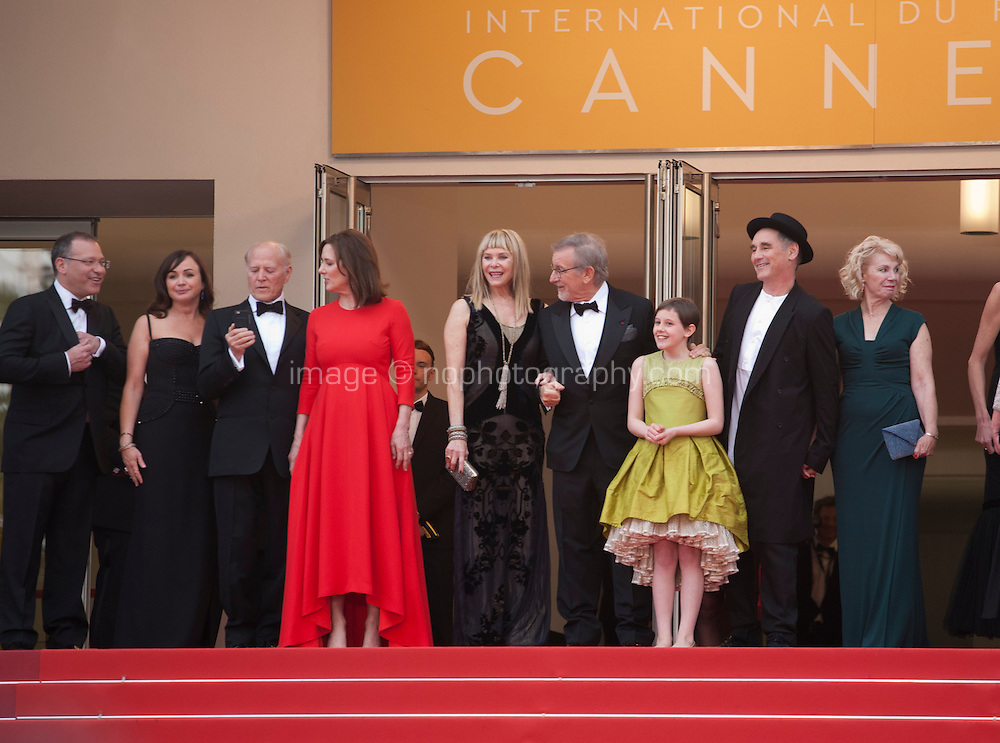 The cast at the gala screening for the film The BFG at the 69th Cannes Film Festival, Saturday 14th May 2016, Cannes, France. Photography: Doreen Kennedy
