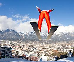 03.01.2011, Bergisel, Innsbruck, AUT, Vierschanzentournee, Innsbruck, Probedurchgang, im Bild // Thurnbichler Stefan (AUT) // during the 59th Four Hills Tournament Trial Round in Innsbruck, EXPA Pictures © 2011, PhotoCredit: EXPA/ J. Feichter