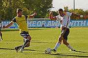 Bradford City defender James Meredith (3) and Oxford United defender Phil Edwards (16) attack the ball 0-0 during the EFL Sky Bet League 1 match between Oxford United and Bradford City at the Kassam Stadium, Oxford, England on 15 October 2016. Photo by Alan Franklin.