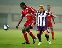 Fotball<br /> UEFA Cup<br /> 28.09.2006<br /> Austria Wien v Legia Warsawa<br /> Foto: Gepa/Digitalsport<br /> NORWAY ONLY<br /> <br /> Dickson Choto (Warschau) und Roman Wallner (A.Wien)