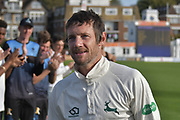 Chris Read leaves the field for the last time after the Specsavers County Champ Div 2 match between Sussex County Cricket Club and Nottinghamshire County Cricket Club at the 1st Central County Ground, Hove, United Kingdom on 28 September 2017. Photo by Simon Trafford.
