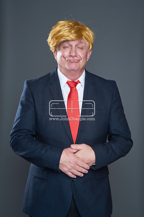 February 22, 2016. Las Vegas, Nevada.  The 22nd Reel Awards and Tribute Artist Convention in Las Vegas. Celebrity lookalikes from all over the world gathered at the Golden Nugget Hotel for the annual event. Pictured is  Donald Trump lookalike, Kevin Hartman.<br /> Copyright John Chapple / www.JohnChapple.com /